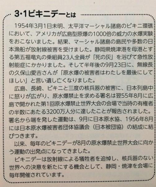 ビキニデ―とは 日本原水協全国集会パンフより